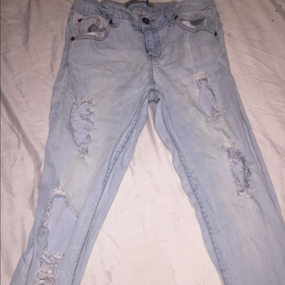 a'gaci Denim - Distressed light denim jeans